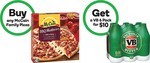 Purchase Any Mccain Family Pizza/Four N Twenty Frozen Pie - Get 1x 6x375ml VB Bottles or Cans for $10 (Save $9.50) @ Woolworths
