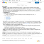 10% off Sitewide @ eBay ($120 Min Spend, $200 Max Discount)