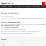Qantas Double Status Credits - International Qantas Operated Flights (Check Email)
