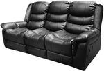 Alan 3 Seater Recliner - Bonded Leather Black $381.96 + Shipping @ Melbournians via Catch