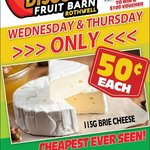 [QLD] 115Gram Brie Cheese - $0.50 @ Northside Discount Fruit Barn (Rothwell)