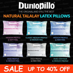 Dunlopillo Talalay Latex Medium Profile Pillow Classic $63.92 Delivered @ Planet Linen eBay