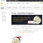 Australian Kangaroo 2018 1oz Silver Gilded Edition $39.95 + $9.95 Delivery (RRP $95) @ Perth Mint