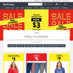 Final Clearance Sale - Baby, Kids, Womens, Mens from $2 + 2 for 1 Deals @ Best&Less (Online & in Store)