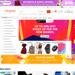 US $7 off US $50 Spend Coupon @ AliExpress