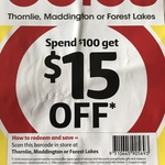 [WA] $15 off on $100 Spend at Thornlie, Maddington or Forest Lakes @ Coles Instore Only