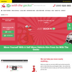 20% off Interstate Van and Truck Vehicle Hire Bookings