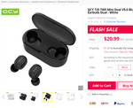 QCY T2S TWS Mini Dual V5.0 Bluetooth Earphones, AU $31.70/US $21.49 + More Delivered @GearBest