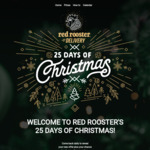 2 Free Rooster Rolls (Save ~$18.98) 25 Days of Christmas (Delivery Only, Min $25 Spend) @ Red Rooster