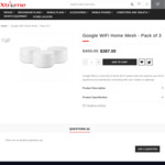 Google Wi-Fi Home Mesh - Pack of 3 $356 + Free Shipping @ XtremeOnline