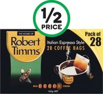 Nice & Natural Nut Bars Pk 6 $2, Robert Timms Coffee Bags Pk 28 $4.82 @ Woolworths