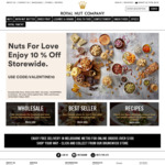 10% off Store Wide + Delivery ($0 to Melbourne Metro with $100 Spend) @ Royal Nut Company