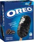 ½ Price Oreo Ice Cream Cones, Sandwich or Sticks 440-475ml 4 Pk $4.25 @ Woolworths