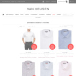 Men's Business Shirts 3 for $89 + $9.95 Delivery ($0 with $100 Spend) @ Van Heusen
