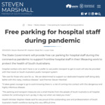 [SA] Free Parking and Public Transport for Hospital Workers