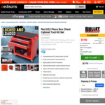 Bullet Red 622 (122) Piece Metric Tool Kit with Tool Cabinet $159.00 + Free Metro Shipping @ Edisons