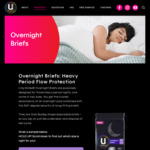 Free Overnight Brief Samples Delivered @ U by Kotex