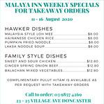 [VIC] Lor Mee, Chicken Rice or Laksa $8 Pickup @ Malaya Inn (Doncaster)