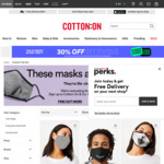 3-for-$25 ($8.33ea) Reusable Washable KN90 PM2.5 Filter Face Masks + $3 Click & Collect / $7 Delivery @ Cotton On