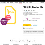 Optus Prepaid $30 Sim Starter Pack for $5 Delivered @ Optus