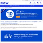 [VIC] $10 off $100+ Click & Collect Orders @ BIG W