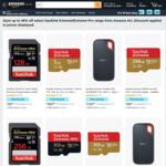 [Prime] SanDisk Extreme: Portable SSD 1TB/2TB $159/$319, Pro Portable SSD 2TB $339, MicroSD 256GB $49 Delivered @ Amazon AU