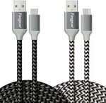 2 Pack 3m USB C Cables Fast Charging Cables $11.39 ($4.1 off) + Delivery ($0 with Prime/ $39 Spend) @ Fasgear Amazon AU