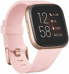 Fitbit Versa 2 $196 (Black/Carbon, Petal/Copper Rose, Stone/Mist Grey); Special Edition $233 (Navy Pink) Delivered @ Amazon AU