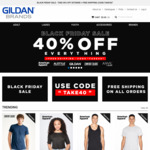40% off Everything. Gildan, American Apparel and More: T-Shirts from $7 Hoodies from $22 + Free Shipping @ Gildan Brands