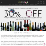 30% off Pick Your Own Mixed Dozens Wine Delivered @ Winedirect