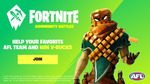 Free Fortnite AFL Team Spray When You Register as an AFL Team Fan and Play Fortnite