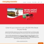 Win a Stayz Mini Aussie Break and Eftpos Voucher worth $1,800 from Woolworth's Everyday Rewards!