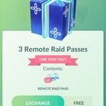 [iOS, Android] Free 3x Remote Raid Pass @ Pokémon Go
