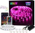 JESLED LED Smart Strip Lights 5m, Bluetooth & Control IR Remote Control $15.99 Delivered @ JESLED via Amazon AU