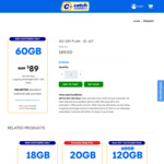 365-Day 60GB Prepaid Mobile Plan $89 (Save $31) @ Catch Connect