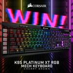 Win a Corsair K95 Platinum XT RGB Mech Keyboard Worth $289 from PC Case Gear