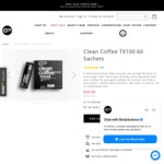 Clean Coffee TX100 60 Sachets $29.98 (Was $59.95) + Delivery at Body Science