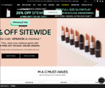 20% Off Sitewide (Free Shipping with $50) + Free Glow Play Lip Balm Over $100 @ M.A.C Cosmetics