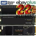 [eBay Plus] WD Black SN750 SE 1TB NVMe Gen4 M.2 SSD $144.30 (OOS), SN750 1TB NVMe M.2 SSD $159 Delivered @ Shopping Express eBay