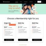 Entertainment Book 13-Month Single City Membership $69.99 - Free Upgrade to All 20 Cities