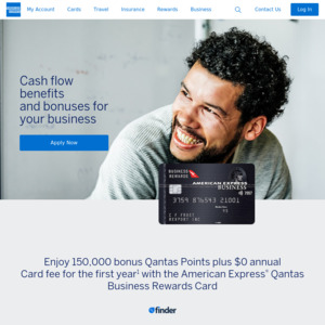 AmEx Qantas Business Rewards Card: 150,000 Qantas Points ($3,000 Spend in 2 Months, $0 Fee 1st Year), New Business Customer Only