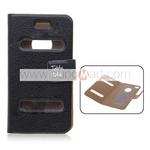 Table Talk Flip Case Faux Leather for iPhone 4/4S Black $2.99 with Free Shipping