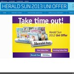 2013 Herald Sun Uni Offer: $10 for 40 Weeks Delivery (Saving 97% Off RRP)