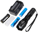 UltraFire CREE XM-L T6 5 Mode Zoomable LED Flashlight US $11.96 Free Shipping from Banggood.com