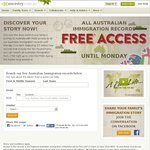 FREE Access to Aus Immigration Records & UK Census/Military @ Ancestry.com.au & Ancestry.co.uk