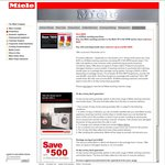 All Miele Washing Machines $300 off