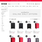 Up to 70% off The Original Price of Selected Luggage @ Myer