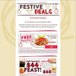 Fasta Pasta: Buy one Large Pasta Get One Free (Sth QLD, VIC, Excludes Mildura)