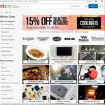 eBay 15% off Selected Stores (Bing Lee, Kogan, Masters, SCA, BCF + More)