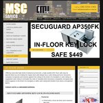 Key Lock Infloor Safe for $449 + $25 Discount for OzBargainers = $424 @ MSC Safe Co (Perth)